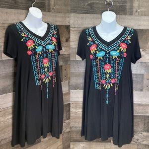 Catie Floral Embroidered Dress